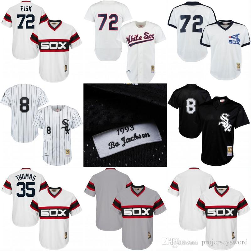 Chicago White Sox Throwback Jersey Cooperstown Collection Hommes 8 Bo Jackson 35