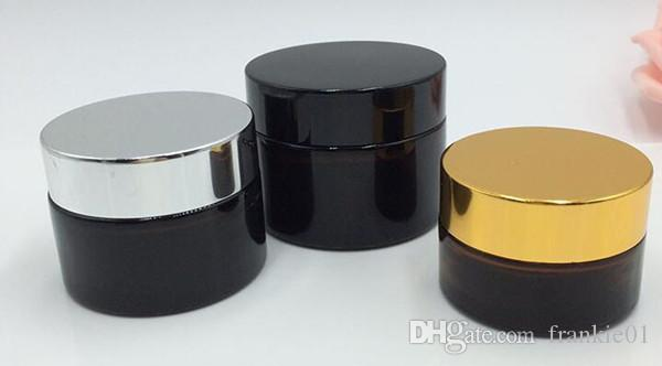 Ml Glass Cosmetic Jar Gold Lid Uk