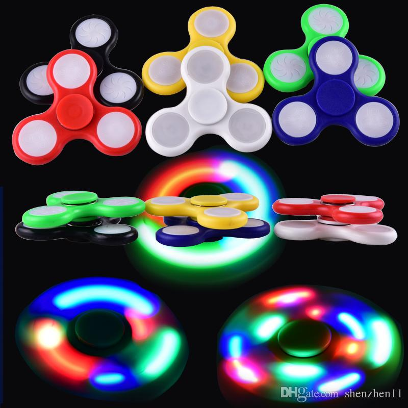 2017 led light up hand spinners fidget spinner top quality for Light up fishing spinners