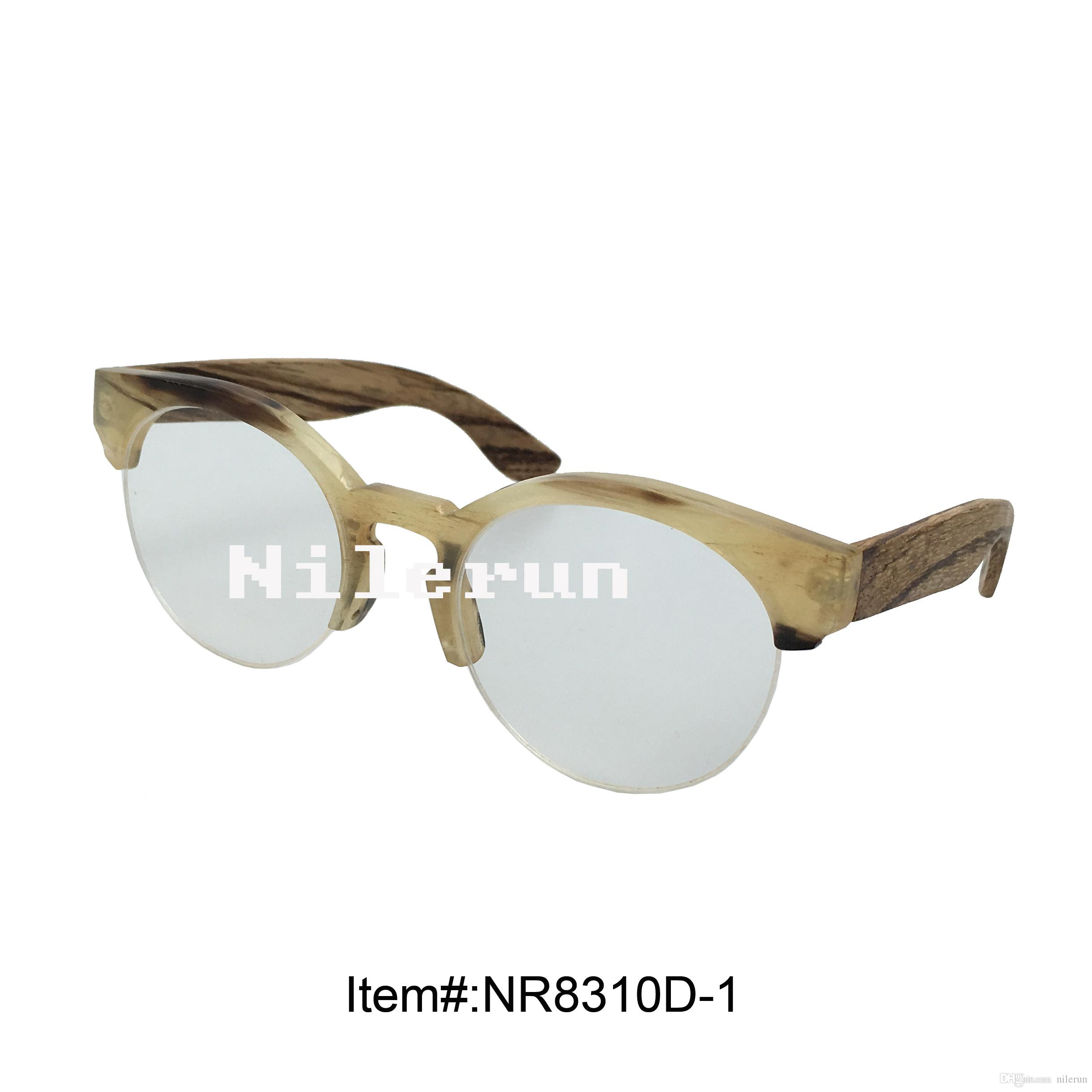 Half Frame Wood Glasses : Horn Half Frame Optical Reading Eyeglasses With Zebra Wood ...