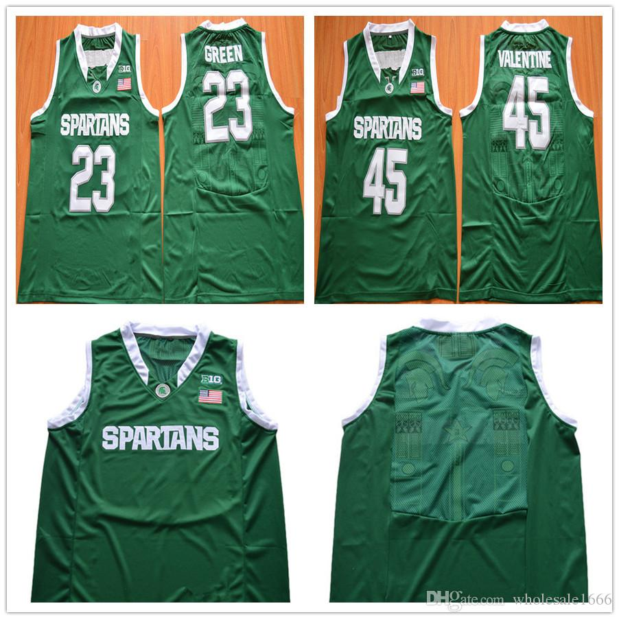 Michigan State Spartans Vert Basket-ball Maillots Stitched S-3XL 14 Eron Harris
