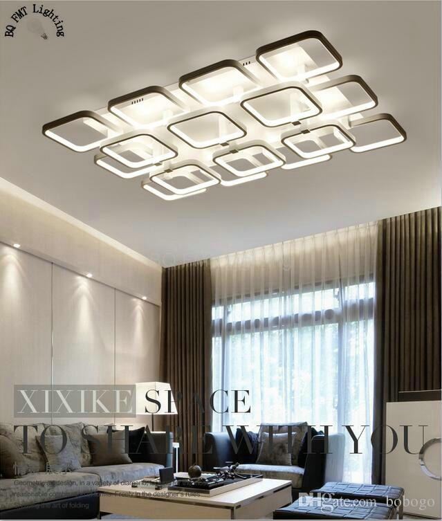 Square Surface Mounted Modern Led Ceiling Lights For Living Room