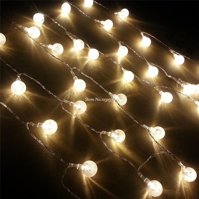 Wholesale 3m 30 Led Battery String Lights Bubble Crystal Balls Fairy Portable Flash Lights For Wedding Christmas Party Holiday Chinese Lantern String Lights ... - Wholesale 3m 30 Led Battery String Lights Bubble Crystal Balls