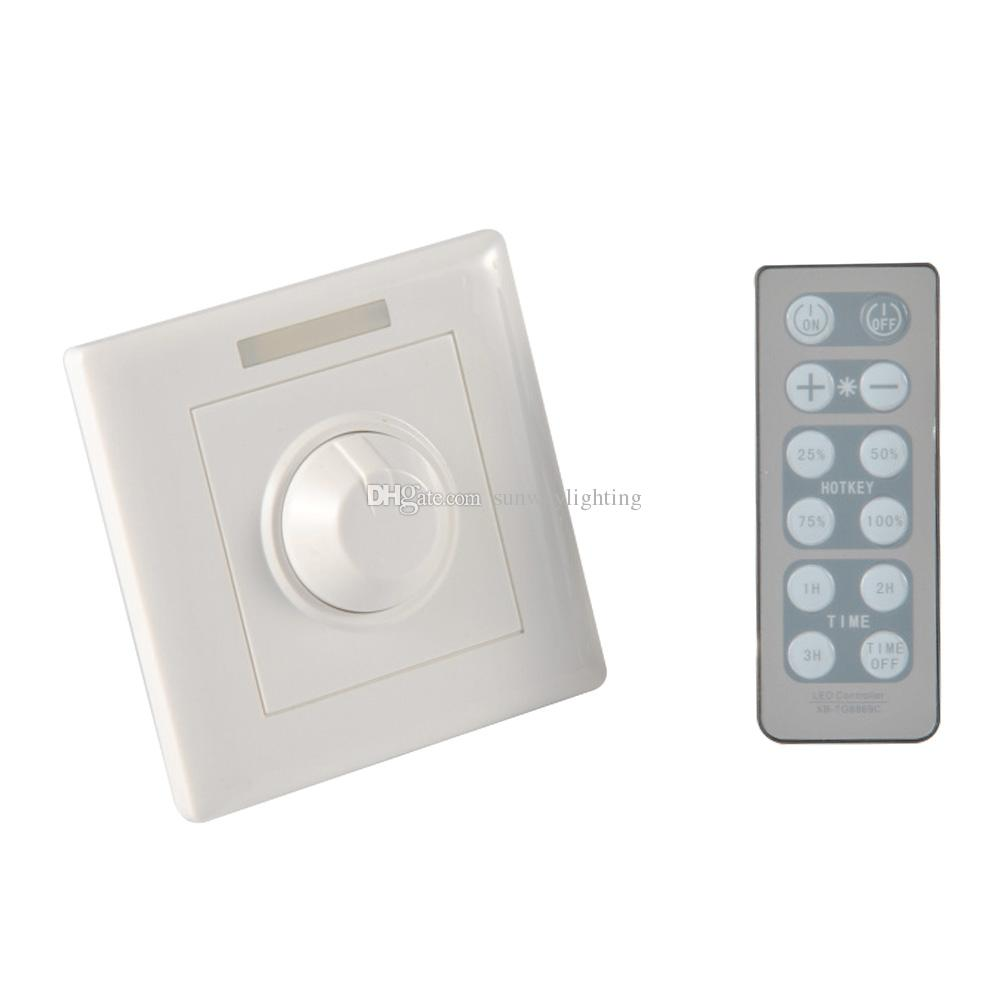 300w knob pwm triac wireless led dimmer switch for dimmable led ceiling downlights panel light. Black Bedroom Furniture Sets. Home Design Ideas