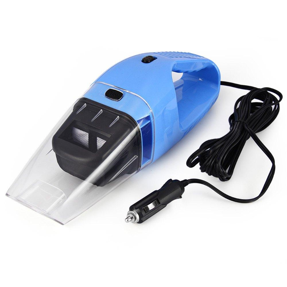 Wholesale practical car vacuum cleaner 12v 120w handheld wet dry dual use dust cleaner for car super suction blue dust cleaner catcher car dashboard cleaner