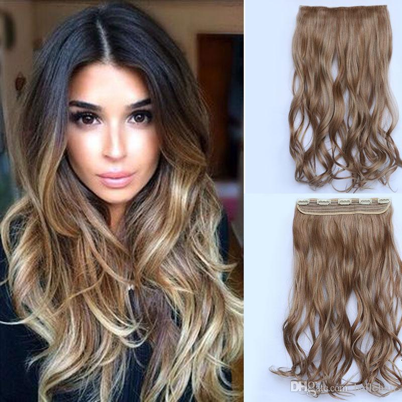 Long curly hair clip in hair extension women natural synthetic synthetic hairpiece hair style wavy curly clip in hair extensions long curly hair clip in hair extension online with 1509piece on bellehairs store pmusecretfo Gallery