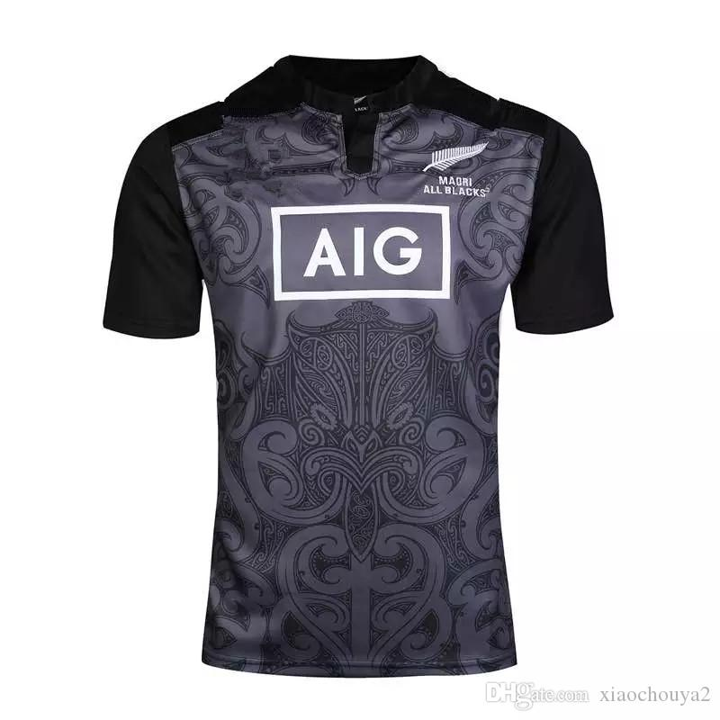 2016 17 New Zealand Blacks All - Maillot de rugby 16-17 Maori All Blacks maillot