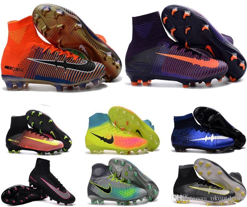 2017 New Kid Soccer Cleats For Sale Superfly High Ankle Soccer ...