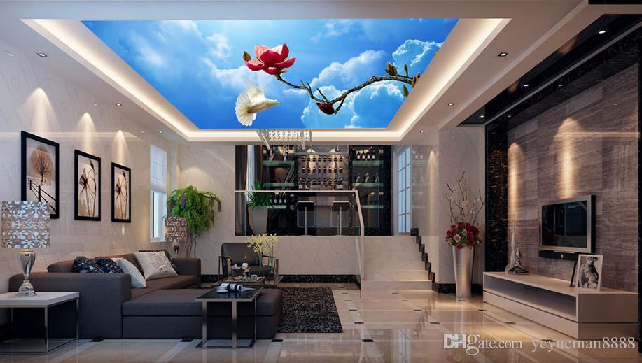 3d ceiling custom 3d wall mural high definition three for Definition mural