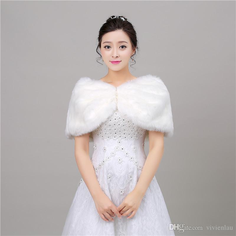 2017 new warm winter wedding wraps shawls boleros bridal for Winter shawls for wedding dresses