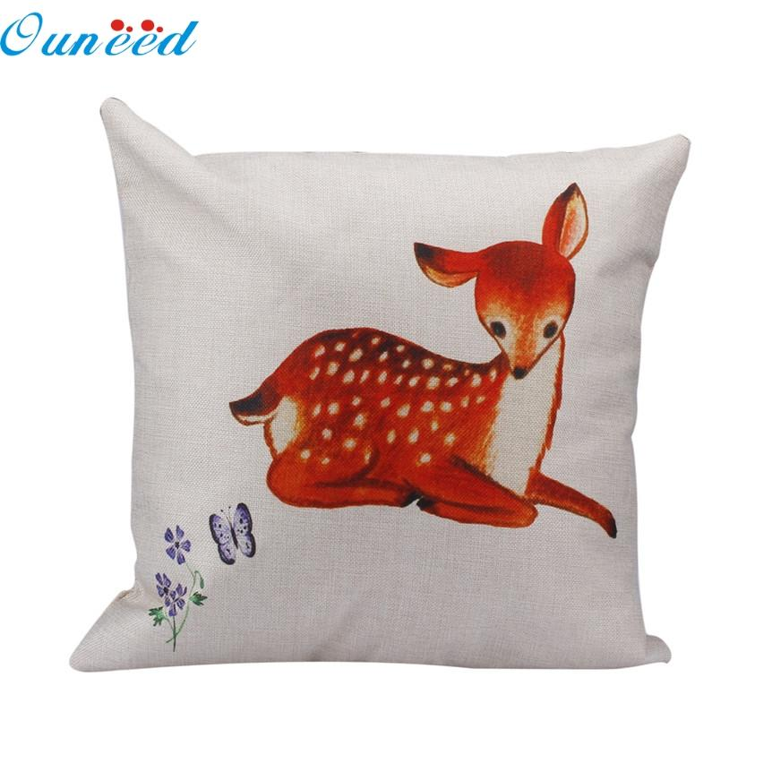 Home Wider Ouneed Linen Square Throw Pillow Case Decorative Cushion Cover Pillowcase For Sofa ...