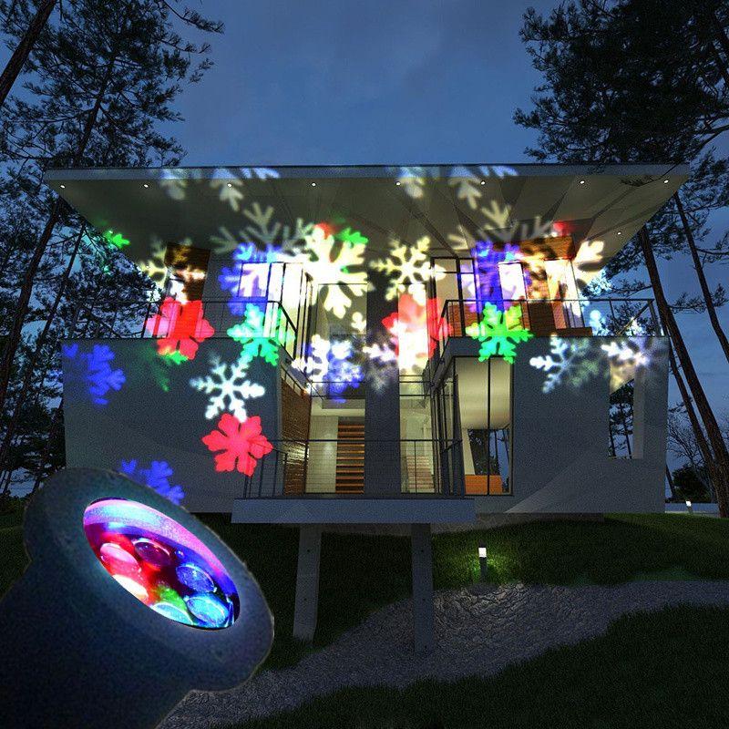 2017 christmas decoration lamp led snowflake spotlight led projector light waterproof landscape. Black Bedroom Furniture Sets. Home Design Ideas