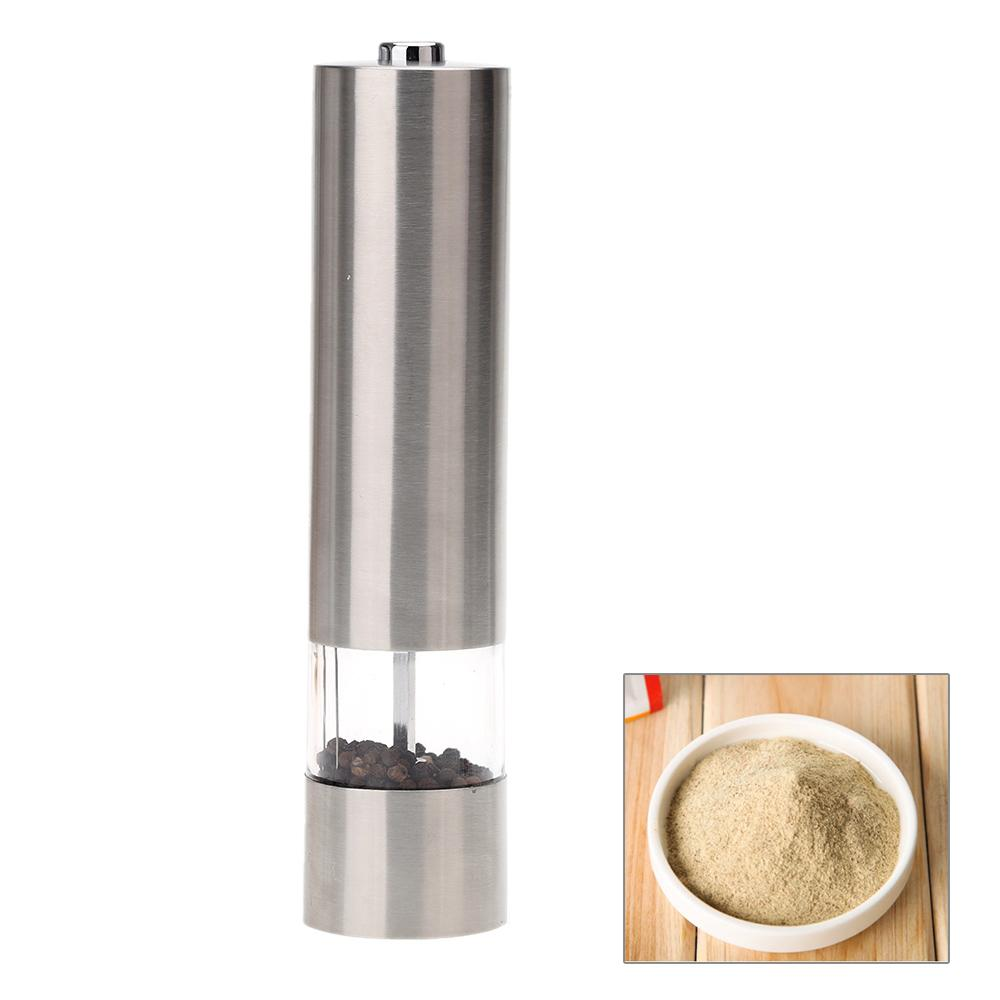 Stainless Steel Pepper Mill Electric Pepper Grinder Malt Mill With Light  Kitchen Accessories Seasoning Grinding Mill Machine Pepper Mill Electric  Mill Mill ...