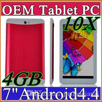 "10X DHL 7 ""7 pouces 3G Phone Call Tablet PC MTK6572 Dual Core Android 4.4 Blueto"