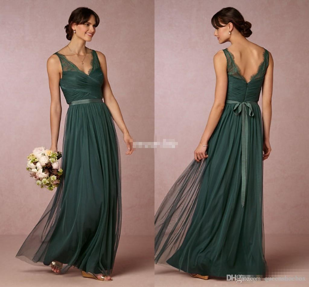 Elegant emerald green long bridesmaid dresses 2017 sheer v for Emerald green dress wedding guest