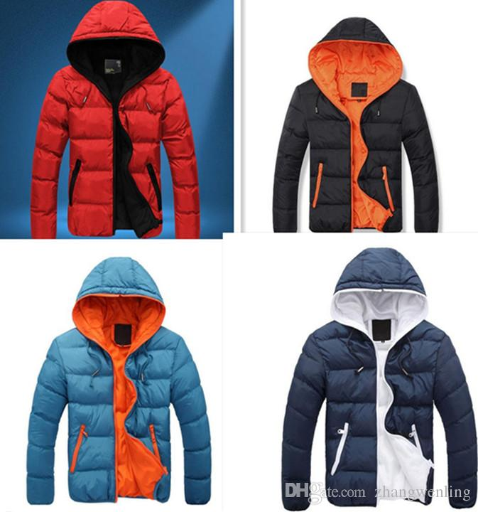 2018 New Luxury Men's Winter Jacket Fashion Red Parka Men Hooded ...