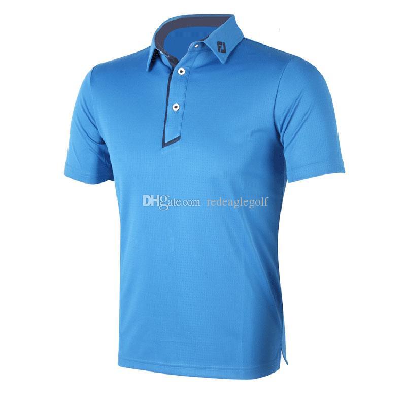 2017 new fashionable brand fj golf t shirt short sleeve for Name brand golf shirts