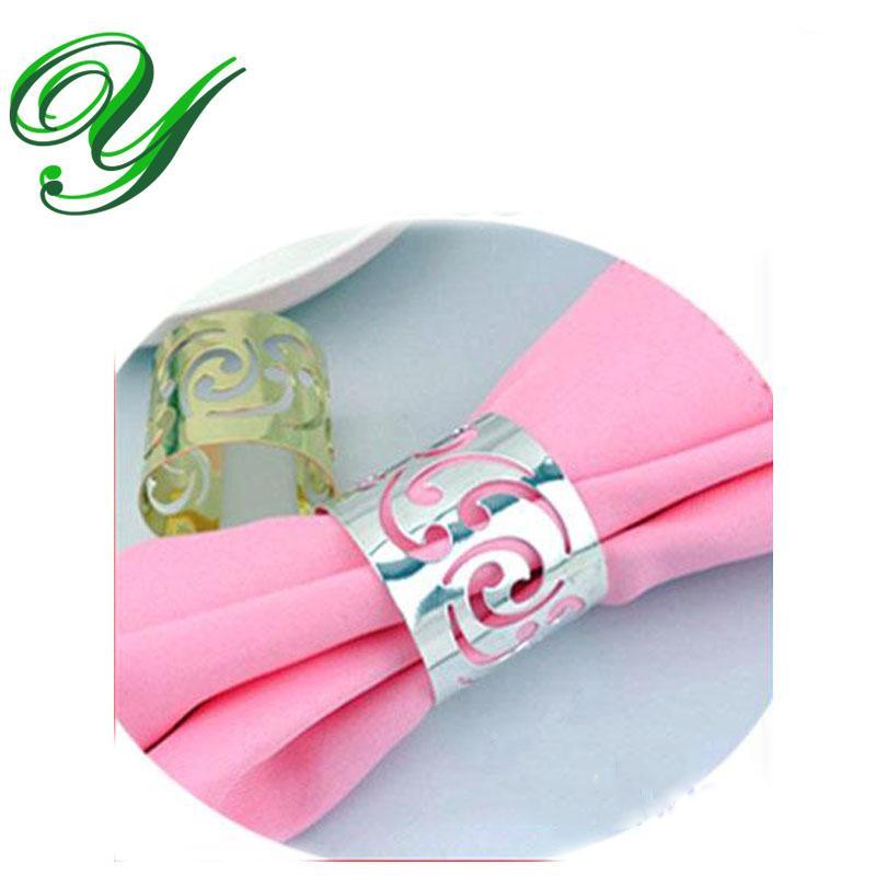 Silver gold napkin rings wedding holder