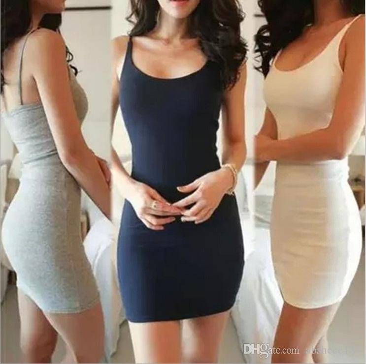 Summer Han Edition Sleeveless Vest Dress Sexy Tight Skirt With ...