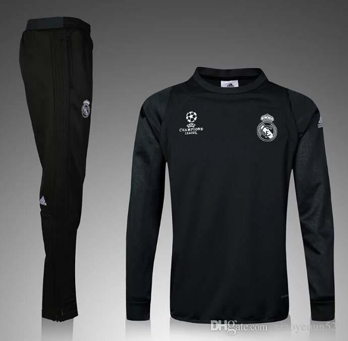 Real Madrid Ligue des Champions Maillot de formation Maillot de Foot 2015 2016 S