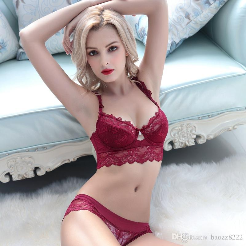 Wholesale-2017 Lace Five Hook-and-eye Bras Sets Padded ...