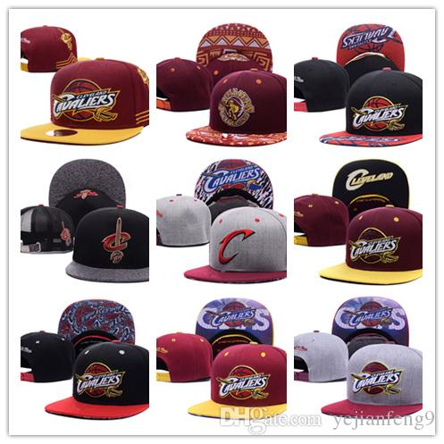 2017 Cleveland Cavaliers réglables Snapback Hat Milliers Snap Retour Hat For Men