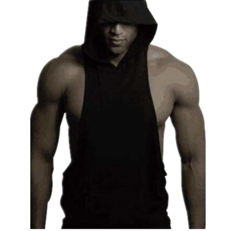 2017 Wholesale Mens Stringer Hoodie Tank Tops Bodybuilding