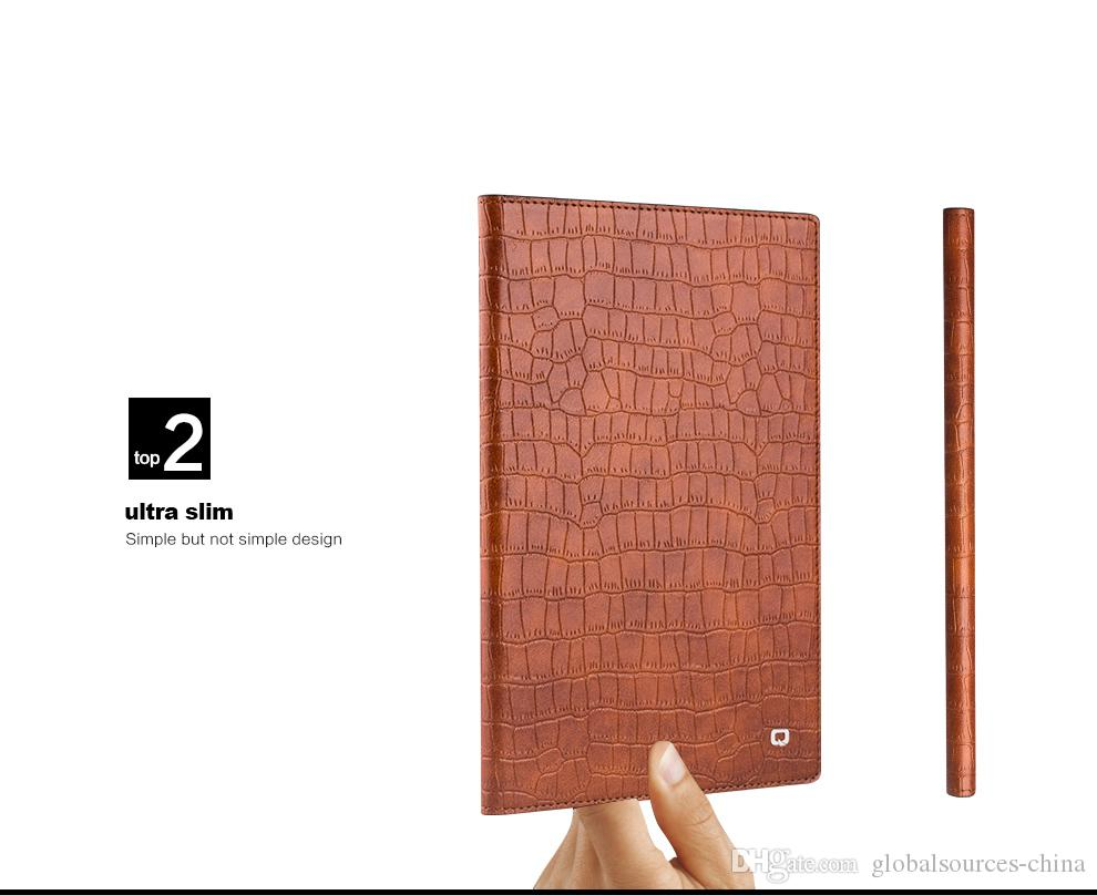 B03 P Smart Slim en cuir véritable pour iPad Mini 4 Crocodile Pattern Megnet Fli