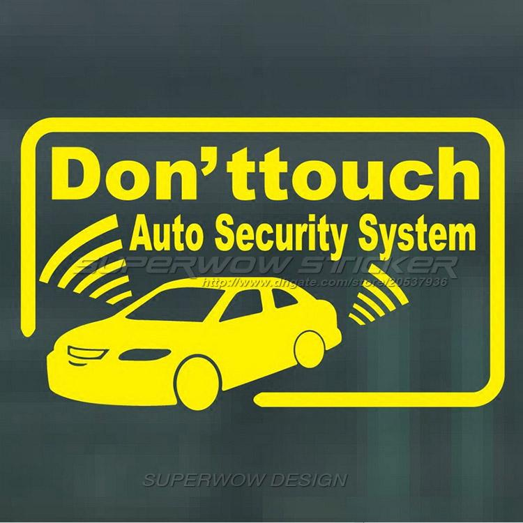 Car Stickers Car Anti Theft System Warning Signs Reflective - Custom car decals online   how to personalize