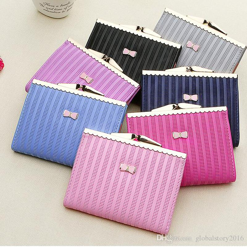 New Arrival Women Wallets Leather Card Holder Short Handbag Small Clutch Bags High quality Mini Coin Pocket