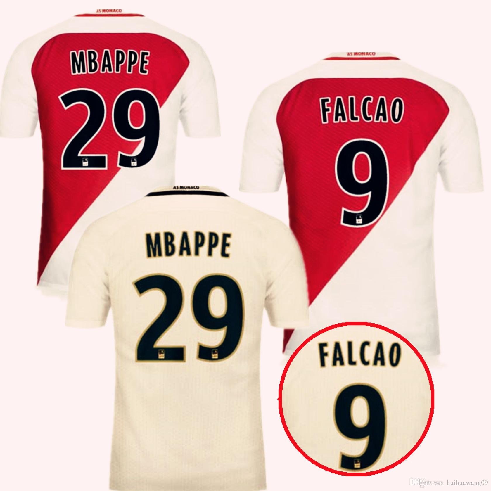2017 2016 17 home away monaco jersey soccer shirts bernardo falcao mbappe soccer jerseys 16 17. Black Bedroom Furniture Sets. Home Design Ideas