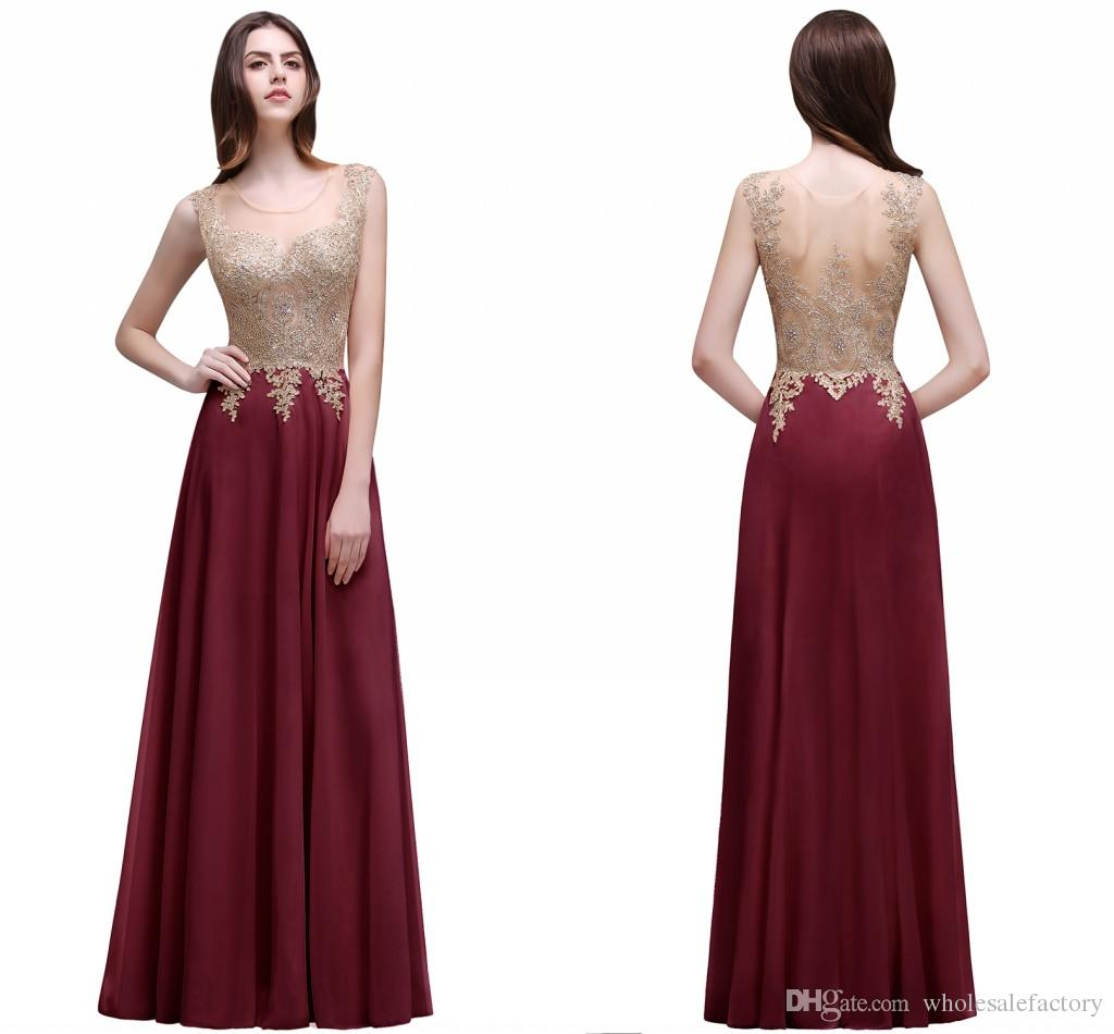 Wholesale Price Beaded Appliques A Line Evening Dresses Sheer ...