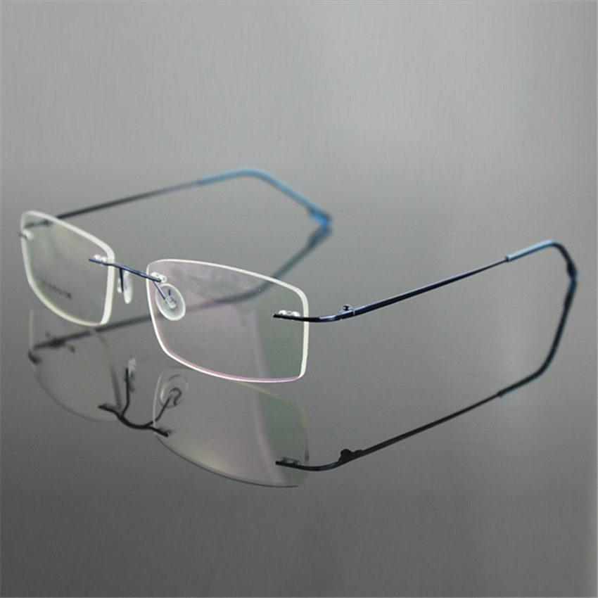 2017 Wholesale Classic Mens Pure Titanium Rimless Glasses ...