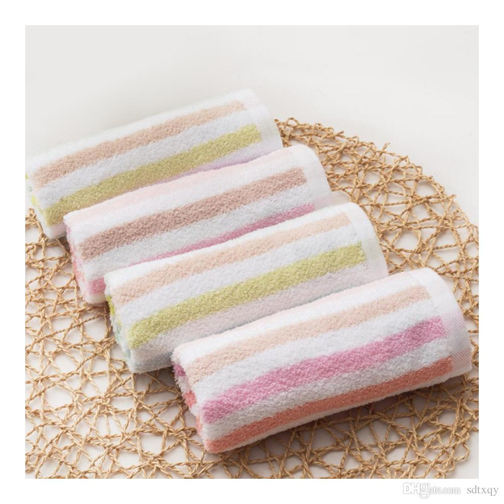 100% Cotton Towel Water Absorbent Towel Stripe Soft Water