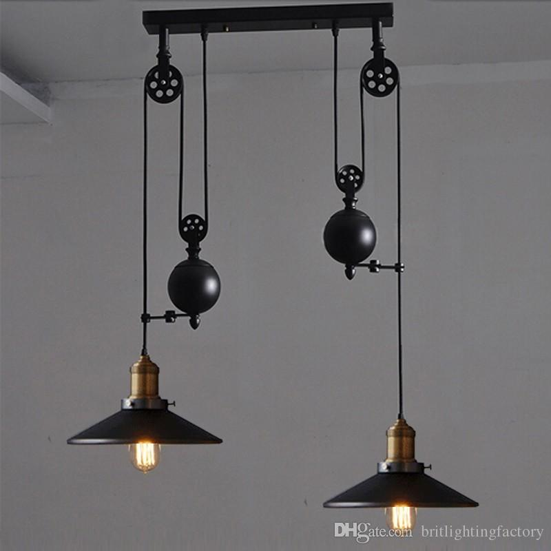 Kitchen Rise Fall Lights Kitchen Pulley Lights Retro Style Pendant Lamps Rise And Fall Lighting Hanging Kitchen Lamp Modern Pendant Lights Contemporary