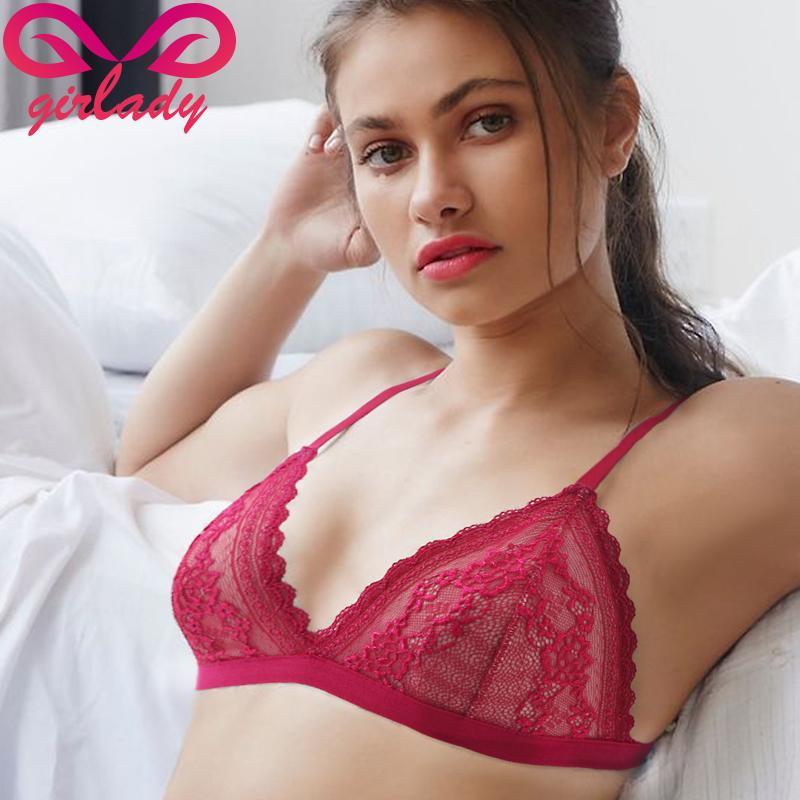 2017 Girlady Sexy Women Lace Bra Luxury Cotton Mesh Bralette ...