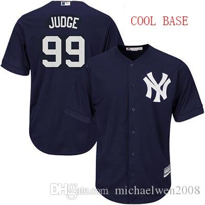 Hommes Femmes Femmes 99 Aaron Judge Jersey 2017 New York Yankees Personnalisé Custom Flex Base Cool Base Baseball Jerseys Logo cousu