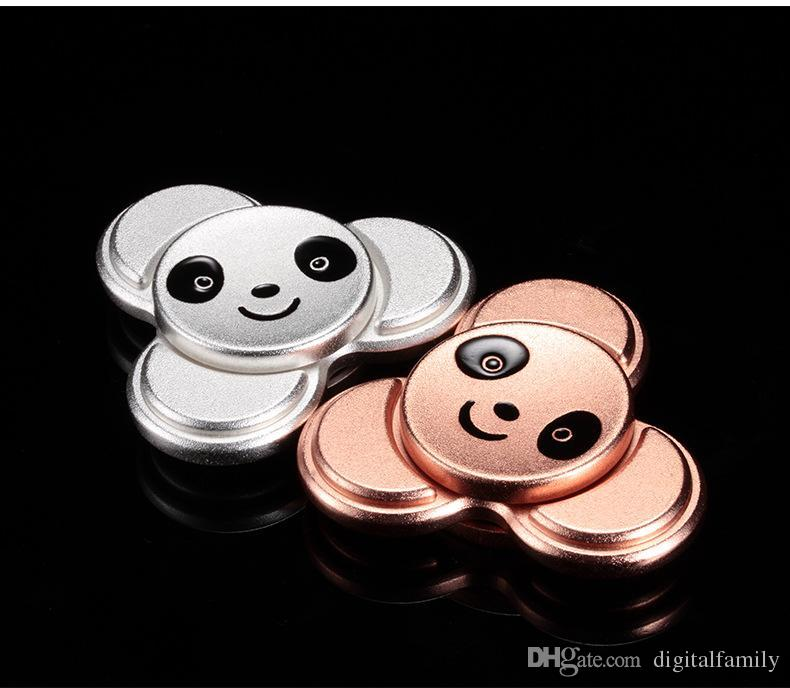 4 couleurs Panda Tri spinner Metal Hand Spinner Doigts Spirale Fingers Gyro Torq