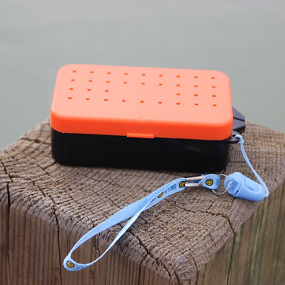 2 compartments fishing box 10 6 plastic for Fishing worm box