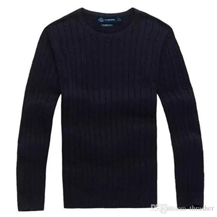 Design High Quality Polo Shirt Brand Men's Twist Sweater Knit ...