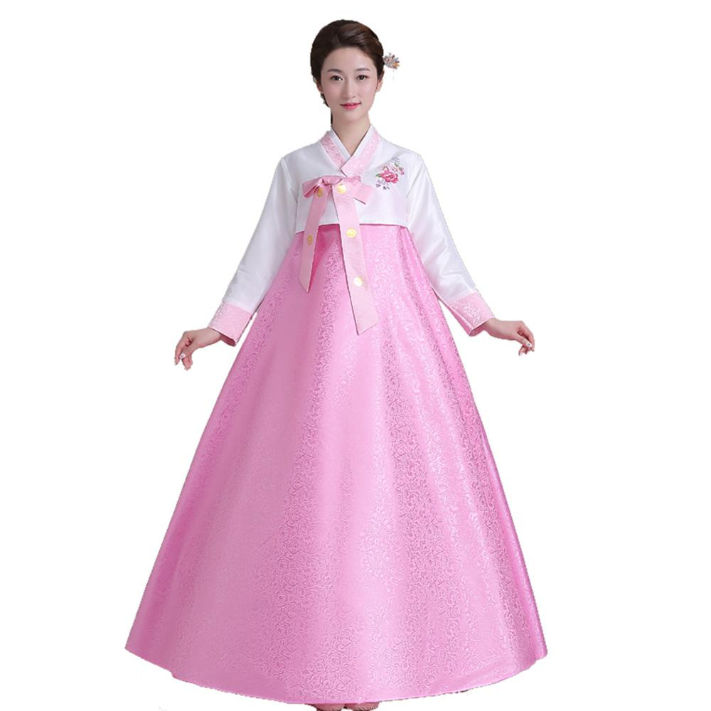2018 New Womenu0026#39;S Korean Traditional Costume Long Sleeve Hanbok Dress Halloween Cosplay For Party ...