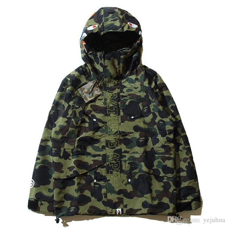 Sweat à capuche masculin populaire Camouflage Hoodies coupe-vent Fashion Cardiga