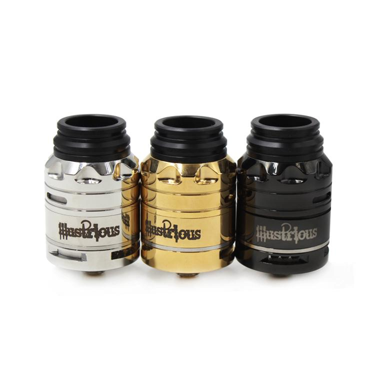 MC Illustrious D24 RDA Refroidissement rétractable Atomizers 24mm PEEK Isolateur
