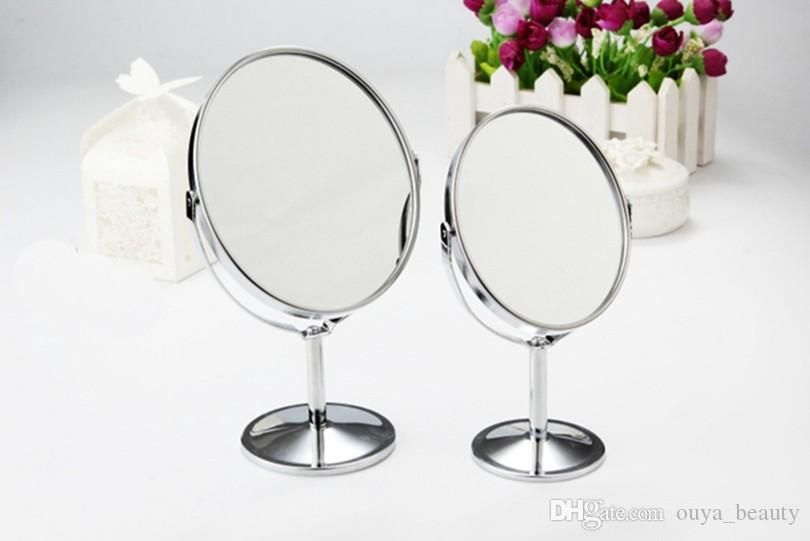 Double sided makeup vanity table make up mirror standing for Miroir double face
