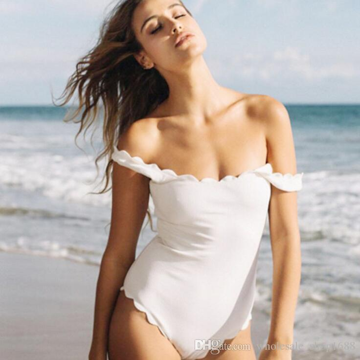 2017 new bikinis backless bathing suits wavy side swimwear ...