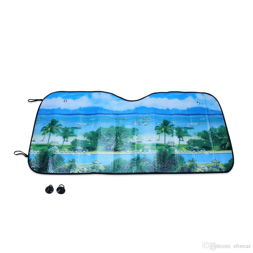 car cover sunshade dolphin pattern auto front rear sun shade