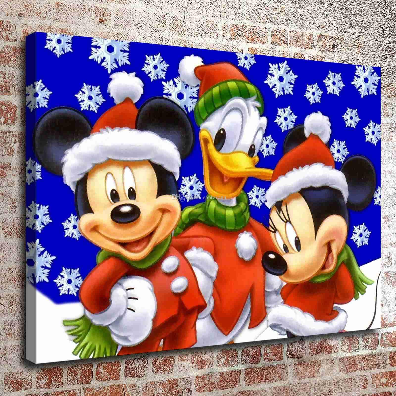mickey mouse kitchen decor no frame mickey mouse two hd canvas print wall painting - Mickey Mouse Photo Frames