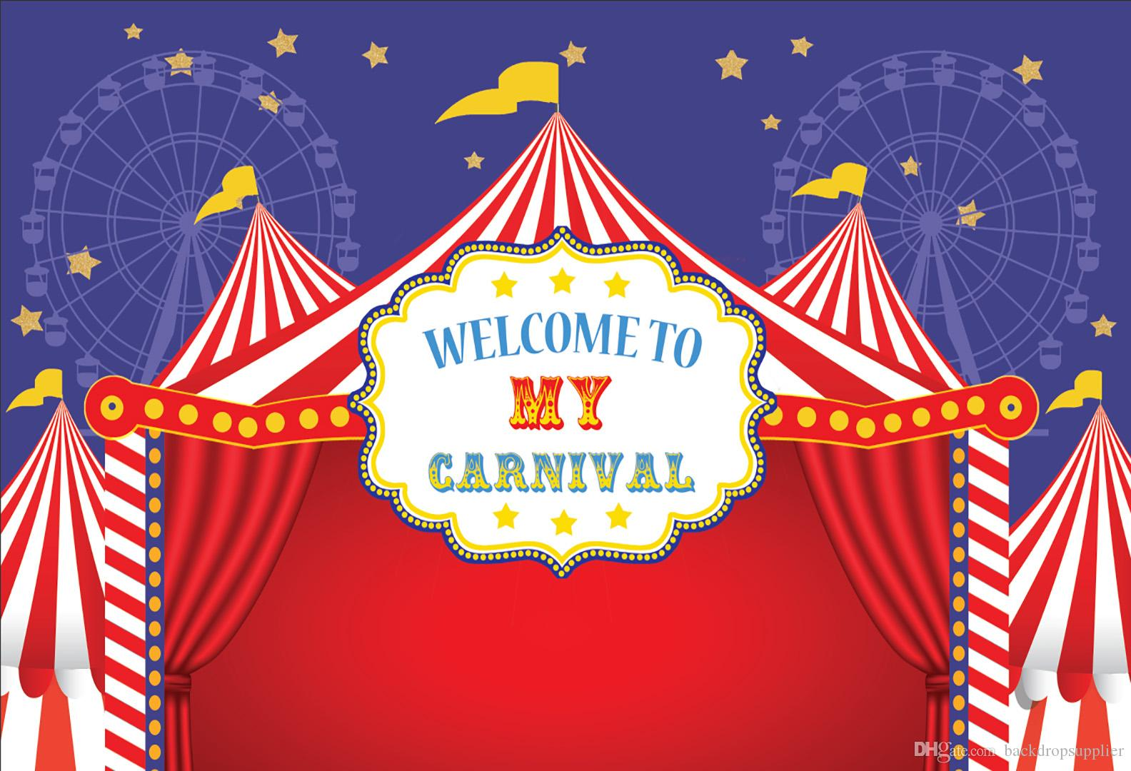 7x5ft Welcome To Carnival Circus Tent Ferris Wheel Custom