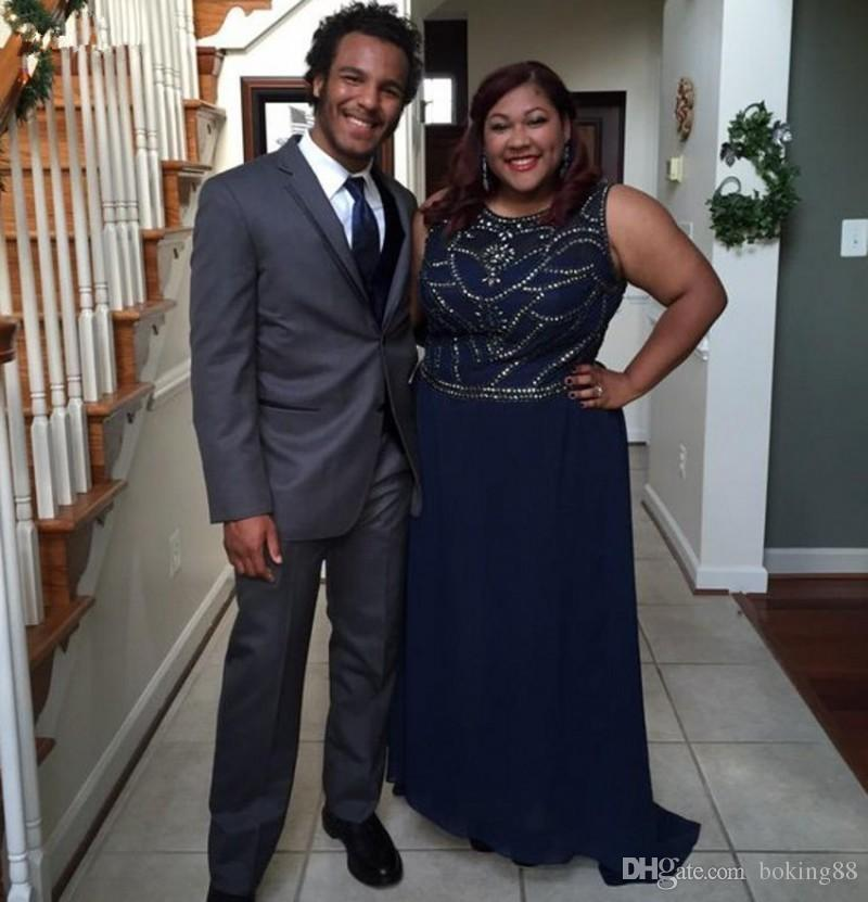 Plus Size Navy Blue Prom Dresses Homecoming Party Dresses