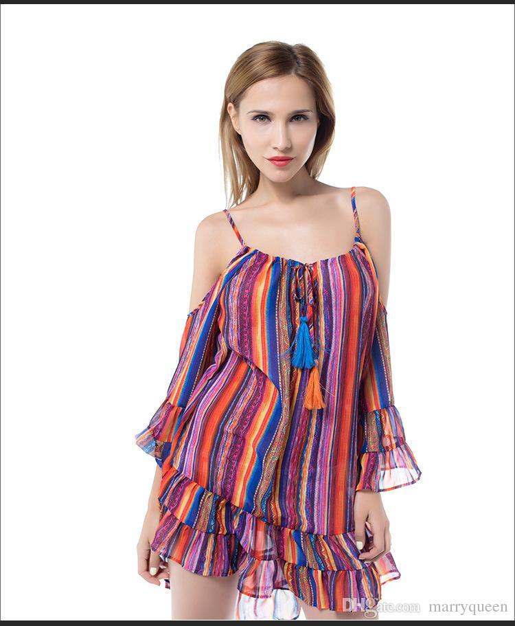 2017 Women Fashion Rainbow Color Plus Size Sexy Harness ... - photo #1